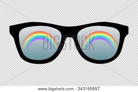 Rainbow Glasses Isolated On A White Background. Eps 10