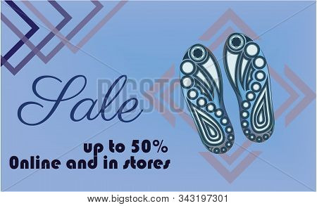 Shoe Sale Banner Template Vector .shoe Sole Design