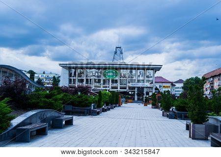 Suceava, Romania - June 20, 2019: The Center Of Suceava Is The Oldest Urban Area Of Suceava Municipa