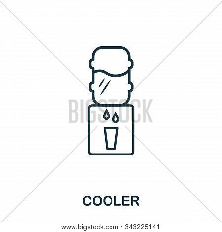 Cooler Line Icon. Thin Design Style From Office Tools Icon Collection. Simple Cooler Icon For Infogr