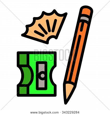 Pencil Sharpener Icon. Outline Pencil Sharpener Vector Icon For Web Design Isolated On White Backgro