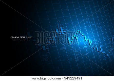 Stock Market Or Forex Trading Graph In Graphic Concept Suitable For Financial Investment Or Economic