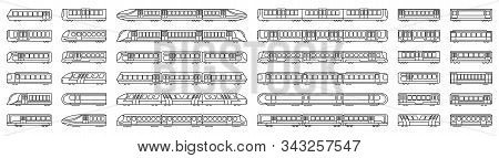 Subway Train Vector Illustration On White Background .set Line Icon Transport Metro.vector Illustrat