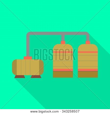 Isolated Object Of Manufactory And Refinery Logo. Collection Of Manufactory And Steel Stock Symbol F
