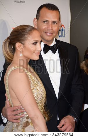 NEW YORK - APR 24: Alex Rodriguez (R) and Jennifer Lopez attend the 2018 Time 100 Gala at Jazz at Lincoln Center on April 24, 2018 in New York City.