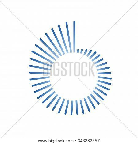 Colorful Geometric Spiral Twirl Shape Design. Staircase Abstract Design. Stock Vector Illustration I