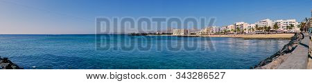 Arrecife, Lanzarote, Spain - December 27, 2019: Panorama Of The Coast Of Arrecife, The Capital Of La
