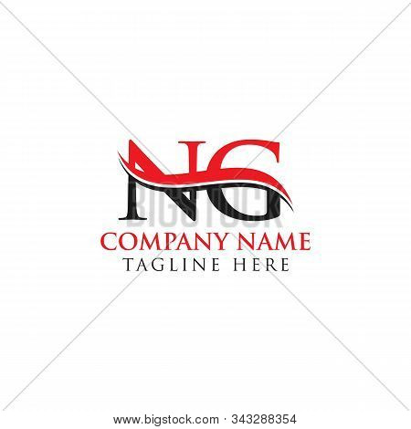 Abstract Letter Ng Logo Design Vector Template. Creative Swoosh Letter Ng Logo Design