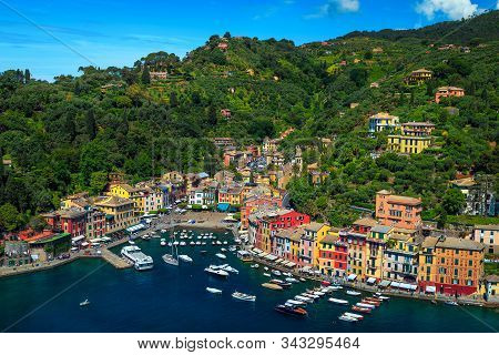 Popular Vacation And Travel Location In Liguria. Admirable Portofino Mediterranean Resort With Color
