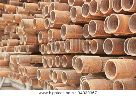 Good Background From Rusty Pipes In Outdoor