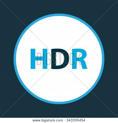 Hdr Icon Colored Symbol. Premium Quality Isolated High Dynamic Range Element In Trendy Style.