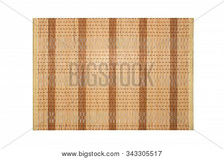 Makisu For Sushi And Roll.bamboo Mat.background Of Woven Bamboo.woven Bamboo Texture.
