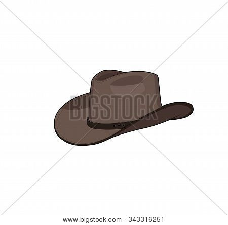 Cowboy Hat. Texas Western Cowboy Hat. Vector Graphic Illustration. Isolated