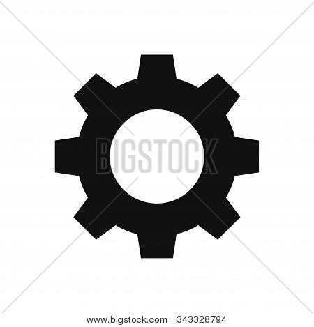 Settings Icon Isolated On White Background. Settings Icon In Trendy Design Style. Settings Vector Ic