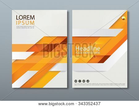 Abstract Orange Annual Report Brochure Flyer Design Template, Leaflet Cover Presentation, Book Cover