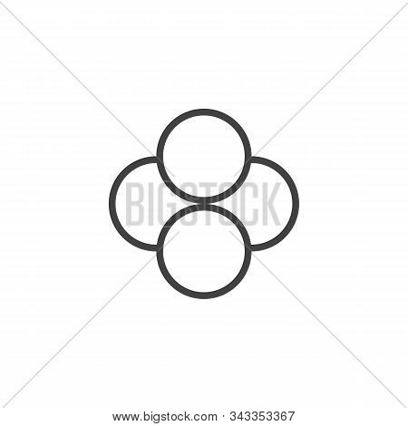 Tetraphosphorus Molecular Structure Line Icon. Linear Style Sign For Mobile Concept And Web Design.