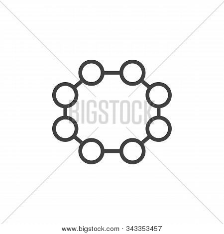 Rhombic Sulfur Molecular Geometry Line Icon. Linear Style Sign For Mobile Concept And Web Design. Rh