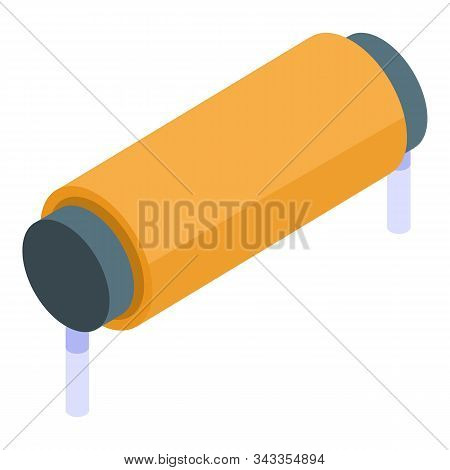 Magnetic Coil Icon. Isometric Of Magnetic Coil Vector Icon For Web Design Isolated On White Backgrou