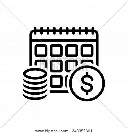 Black Line Icon For Annuity Annuities  Financial Revenue Currency Exchange Yearly