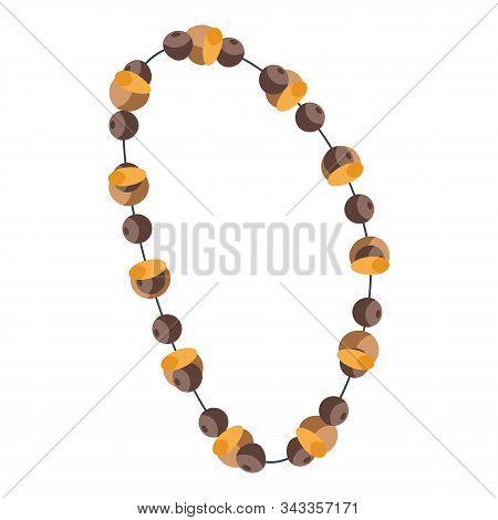Gemstone Necklace Icon. Isometric Of Gemstone Necklace Vector Icon For Web Design Isolated On White