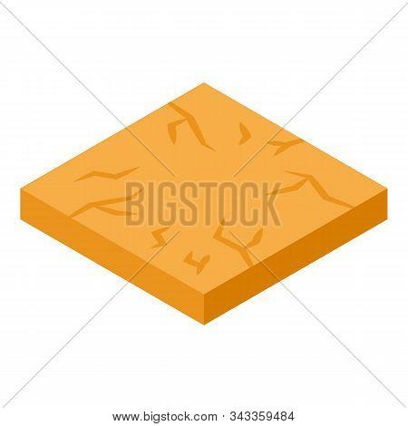 Desert Portion Ground Icon. Isometric Of Desert Portion Ground Vector Icon For Web Design Isolated O