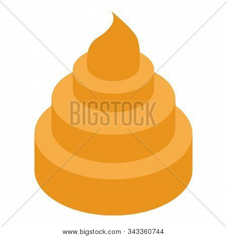 Bite Cookie Icon. Isometric Of Bite Cookie Vector Icon For Web Design Isolated On White Background