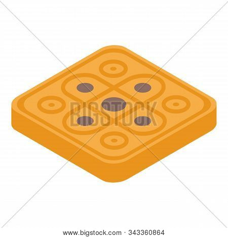Cereal Cookie Icon. Isometric Of Cereal Cookie Vector Icon For Web Design Isolated On White Backgrou