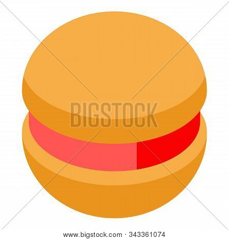 Jelly Cookie Icon. Isometric Of Jelly Cookie Vector Icon For Web Design Isolated On White Background