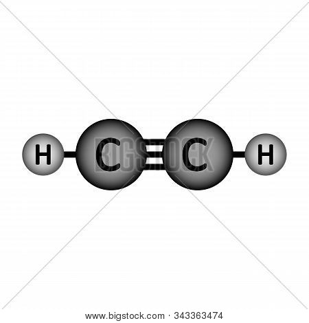 Acetylene Molecule Icon On White Background. Vector Illustration.
