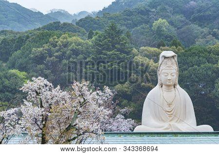 Bodhisattva Avalokitesvara (kannon) At Ryozen Kannon Temple In Kyoto, Japan