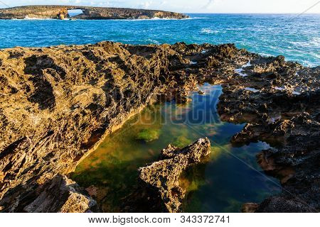 View At Laie Point On Oahu, Hawaii