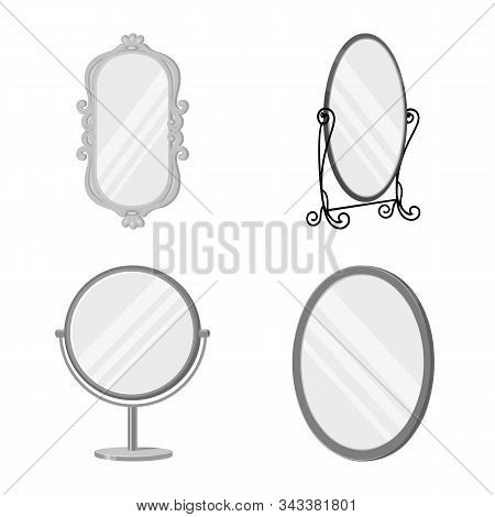 Vector Illustration Of Reflection And Glass Icon. Collection Of Reflection And Reflect Vector Icon F