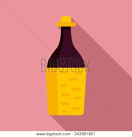 Peru Wine Bottle Icon. Flat Illustration Of Peru Wine Bottle Vector Icon For Web Design