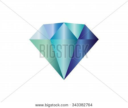 Diamond Icon. Flat Illustration Of Diamond - Vector Icon. Color Diamond Sign Symbol.