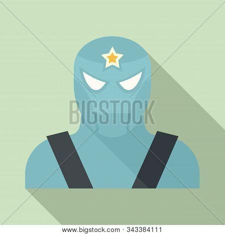 Famous Superhero Icon. Flat Illustration Of Famous Superhero Vector Icon For Web Design