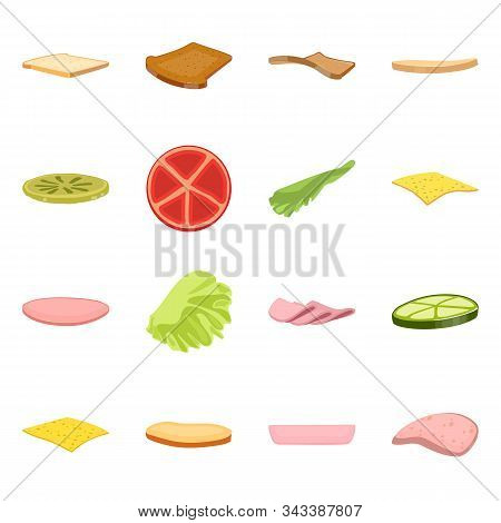 Vector Illustration Of Sandwich And Snack Logo. Set Of Sandwich And Fastfood Stock Vector Illustrati