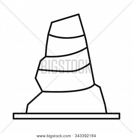 Vector Illustration Of Road And Cone Icon. Web Element Of Road And Rumpled Stock Symbol For Web.