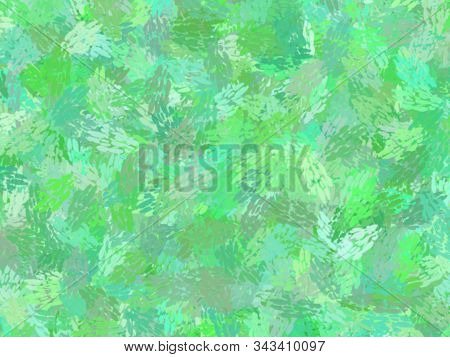 Green Jungle Theme Watercolor Paint Fabric Wool Fur Pattern, Feather Texture Carpet Design Luxury Ab