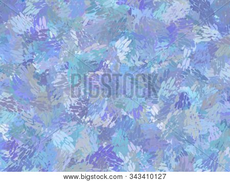 Blue Theme Watercolor Paint Fabric Wool Fur Pattern, Feather Texture Carpet Design Luxury Abstract F