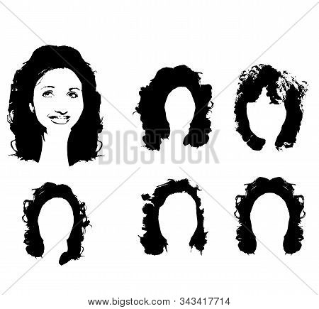 Black Silhouette Girl Vector Photo Free Trial Bigstock