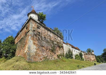 Brasov, Romania - July 20, 2019: Brasov Citadel, Romania