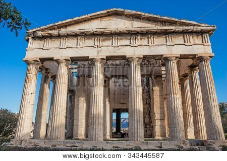 The Temple Of Hephaestus Or Hephaisteion Or Earlier As The Theseion A Well-preserved Greek Temple. I
