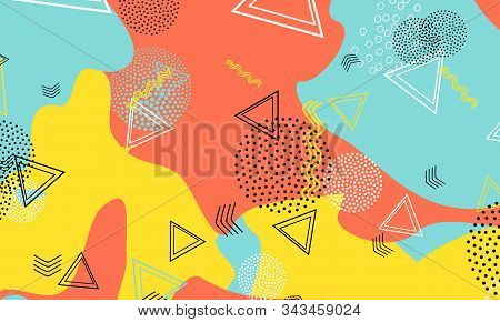 Splash Terracotta Ornament. Amber Bright Texture. Aqua Beautiful Design. Halftone Print. Baby Blue V