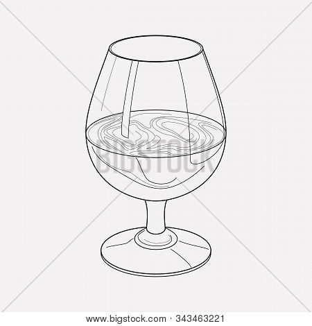 Liquor Icon Line Element. Vector Illustration Of Liquor Icon Line Isolated On Clean Background For Y