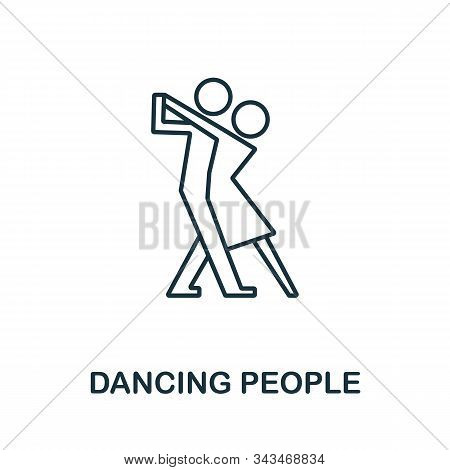 Dancing People Icon From Party Collection. Simple Line Element Dancing People Symbol For Templates,
