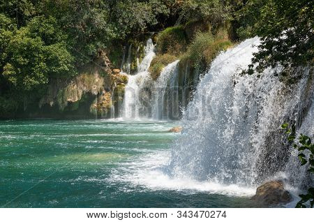 Waterfalls. Cascade. Croatia. National Park. Water. River Krka
