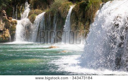 Waterfalls. Croatia. Cascade. National. Park. Water. River Krka