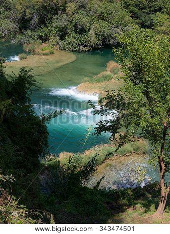 Waterfalls. National. Park. Croatia. Cascade. Water. River. Krka