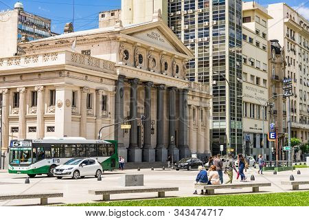 Buenos Aires, Argentina - February 11, 2019: Escuela Presidente Roca School