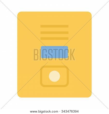 Yellow Letterbox Vector Flat Isolated On White